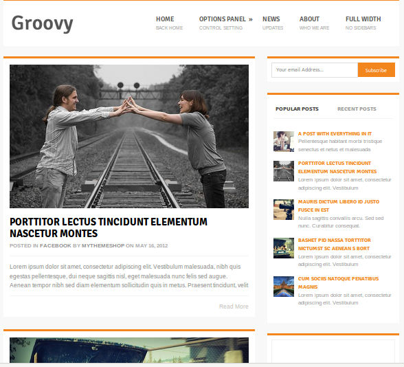 Groovy WordPress Theme Free Download