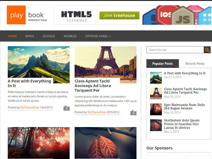 Playbook WordPress Theme Free Download