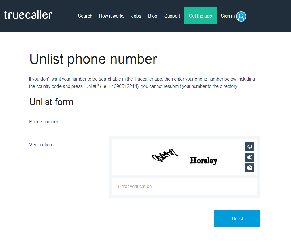 Remove and Unlist Your Mobile Number From Truecaller