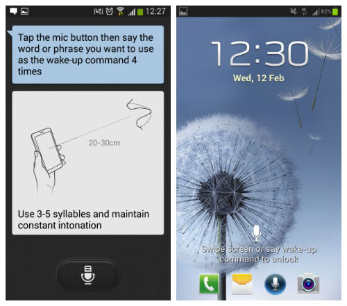 how to open s voice ob galaxy note 3