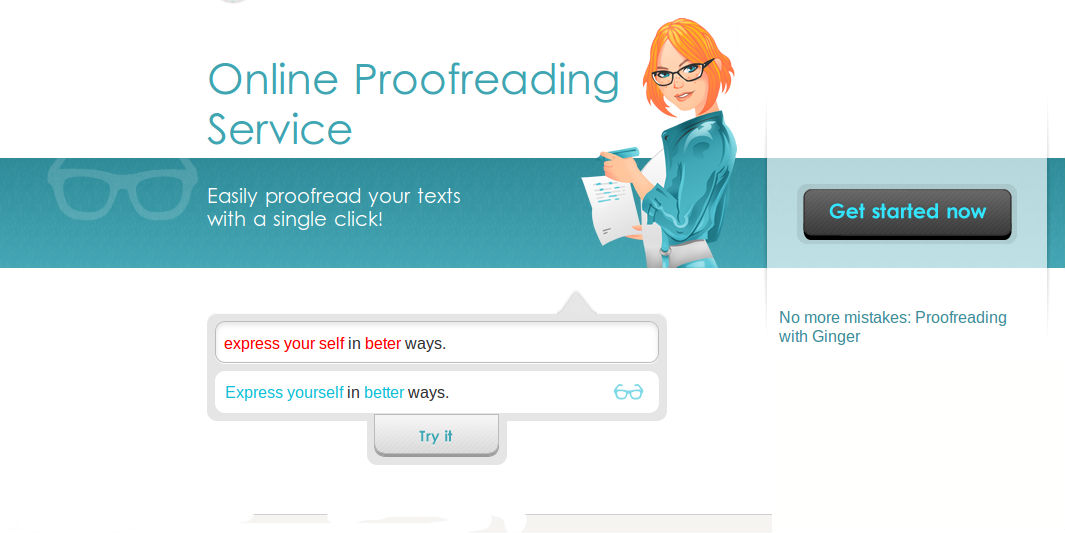 Online proofreader tool ginger