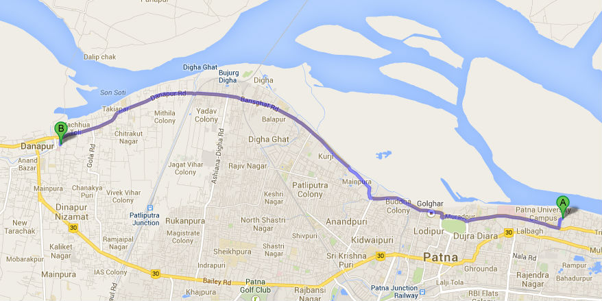 Patna the state capital of bihar has the worlds longest 20km map patna wifi gumiabroncs Image collections