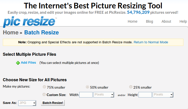 how to select and resize multiple images at once