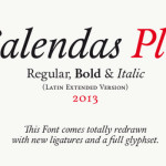 Free Font of the Day: CALENDAS PLUS