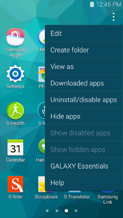 how to delete apps on samsung s5