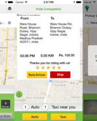 AUTOnCAB App for Booking Auto Rickshaws and Cabs in New Delhi