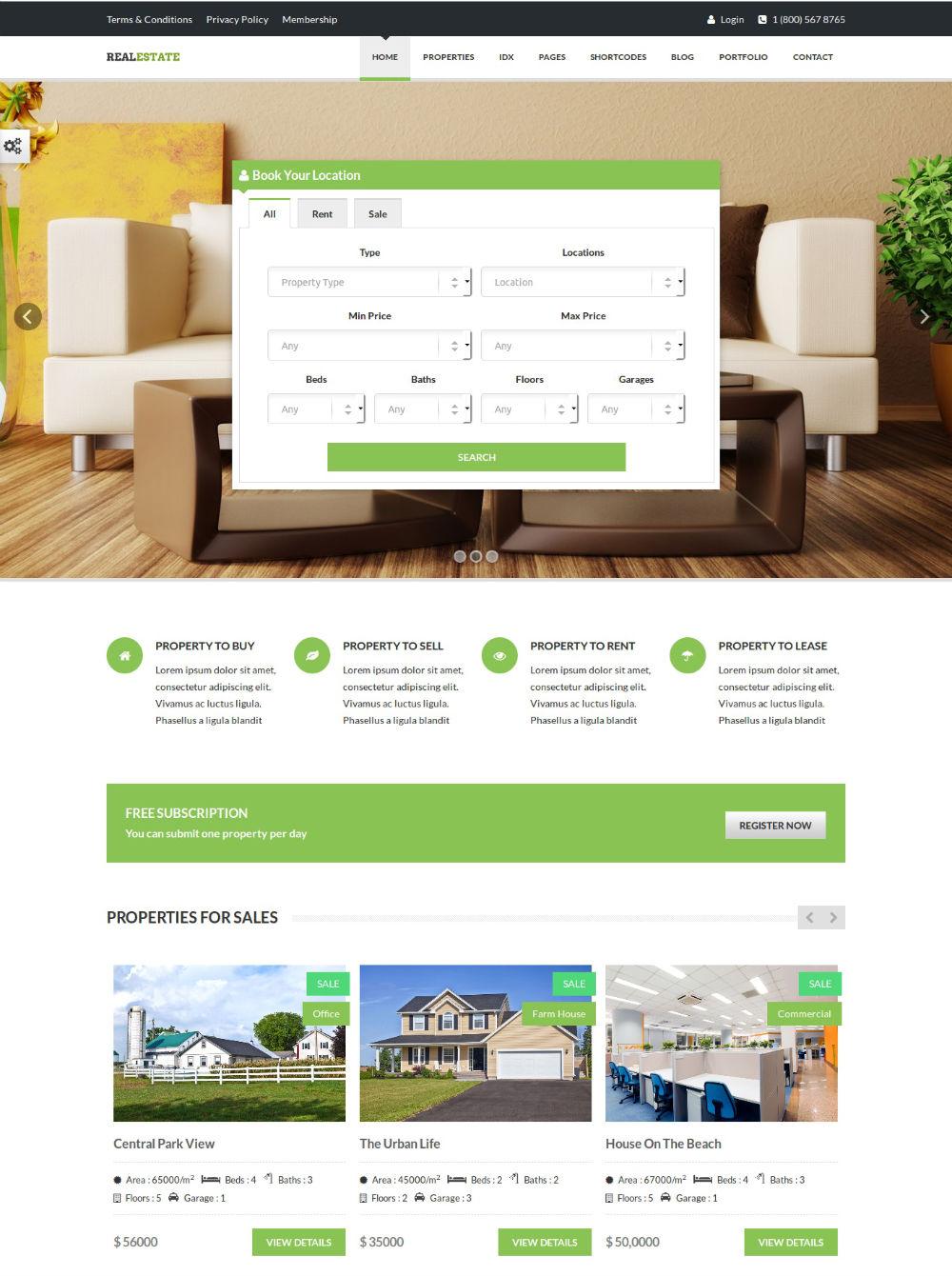 Top 10 Responsive Real Estate WordPress Themes (July 2014)