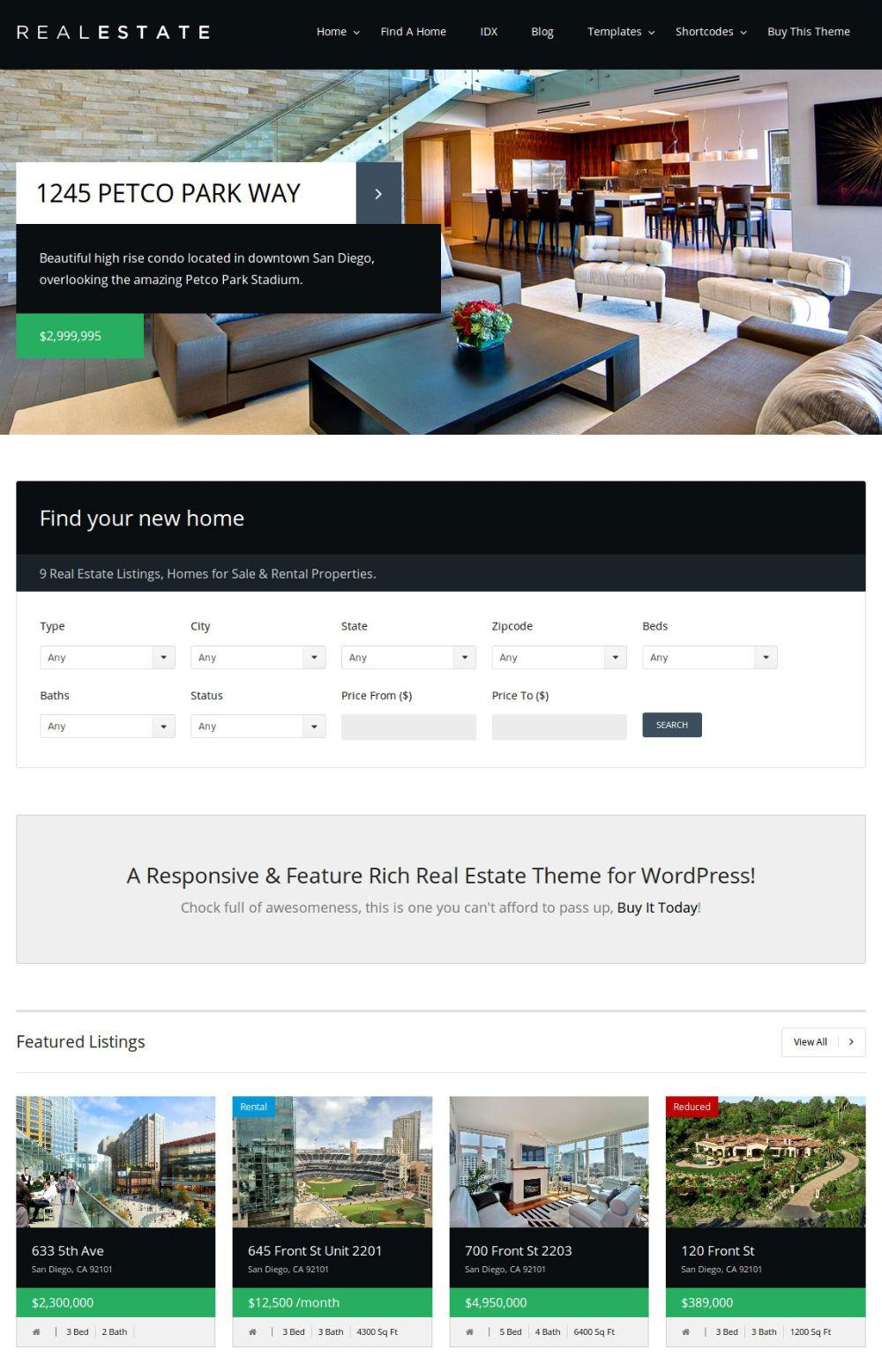 Real Estate WordPress Plugin with CRM