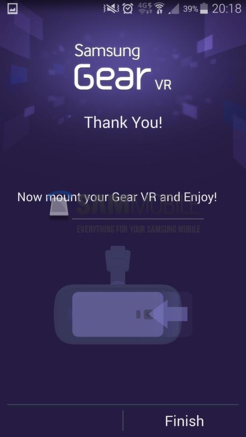 Samsung's virtual reality headset, Samsung Gear VR Setup