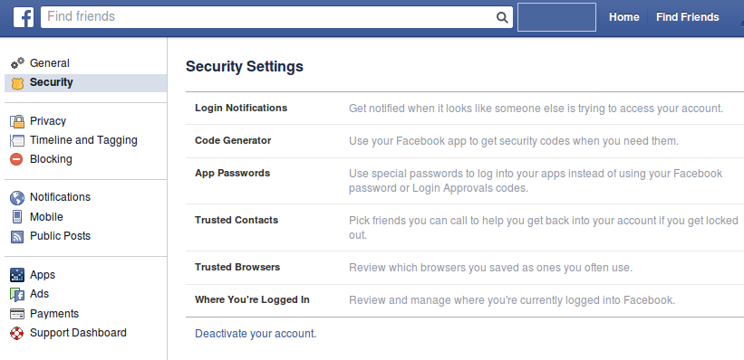 how to turn off your facebook account