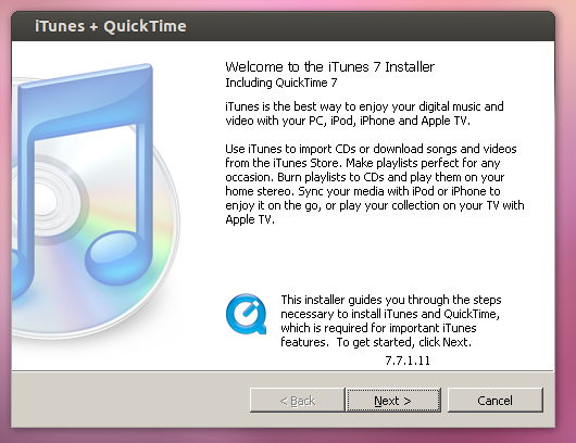 Install iTunes on Ubuntu -04
