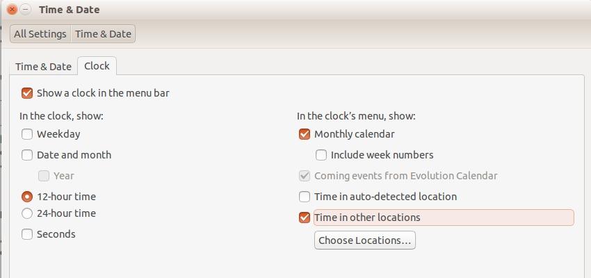 Add Multiple Time Zones in Ubuntu - Add World Clocks to