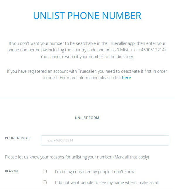 How to unlist remove mobile phone number from truecaller databaseapp unlist remove mobile phone number from truecaller ccuart Images
