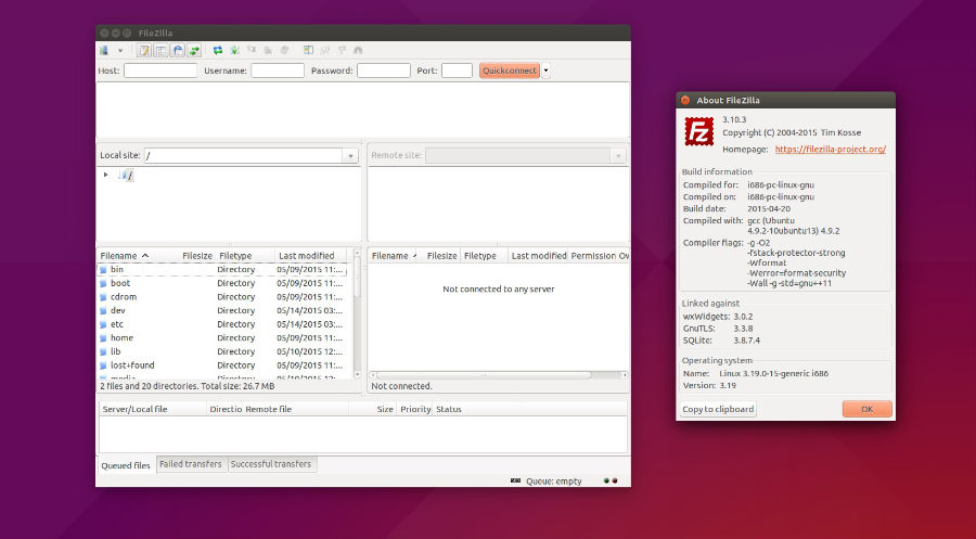 Install FileZilla 3 13 FTP Client On Linux Ubuntu 15 04