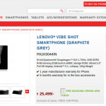 Buy Lenovo Vibe Shot In India, For Rs 25,499
