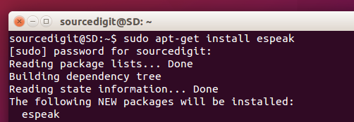eSpeak For Ubuntu: Read Text To Speech, Via Command Line