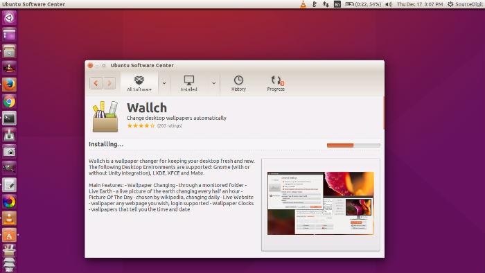 install wallch wallpaper changer on ubuntu 16 04