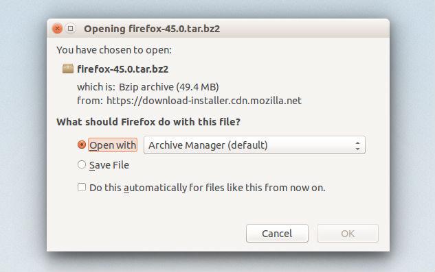 Upgrade Mozilla Firefox 45 On Ubuntu Systems