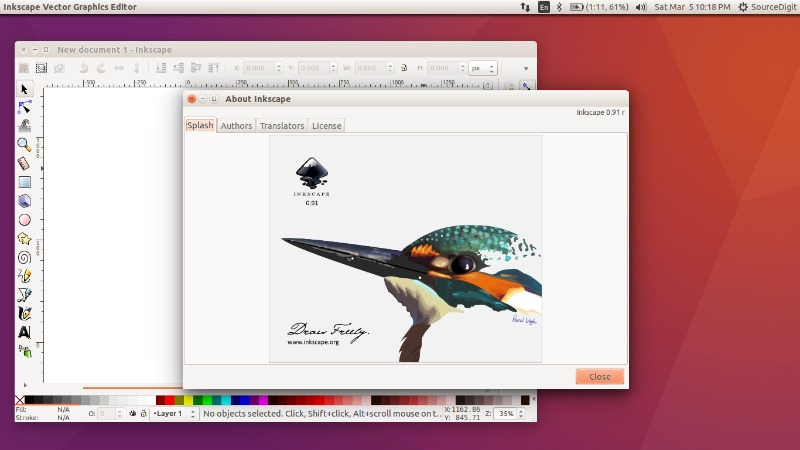 Install Inkscape Vector Graphics Editor On Ubuntu