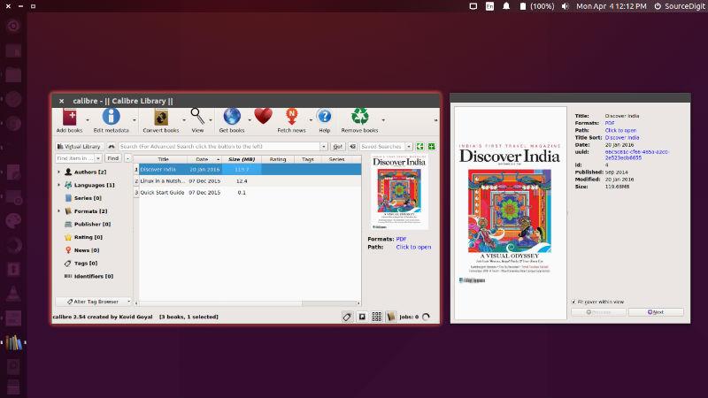 Install Calibre 3.0 eBook Reader On Ubuntu Linux