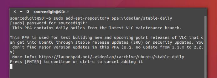 Install VLC 2.2.1 \