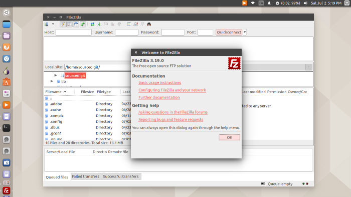 Install FileZilla FTP Client In Ubuntu 16 04 Via Command Line
