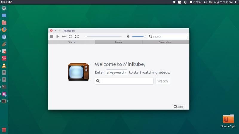 Install Minitube YouTube Desktop Client For Ubuntu Linux
