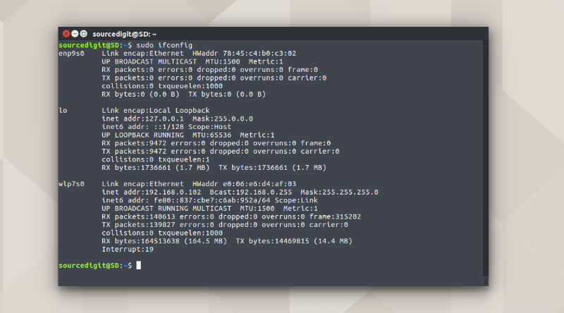 how to turn on network card in linux
