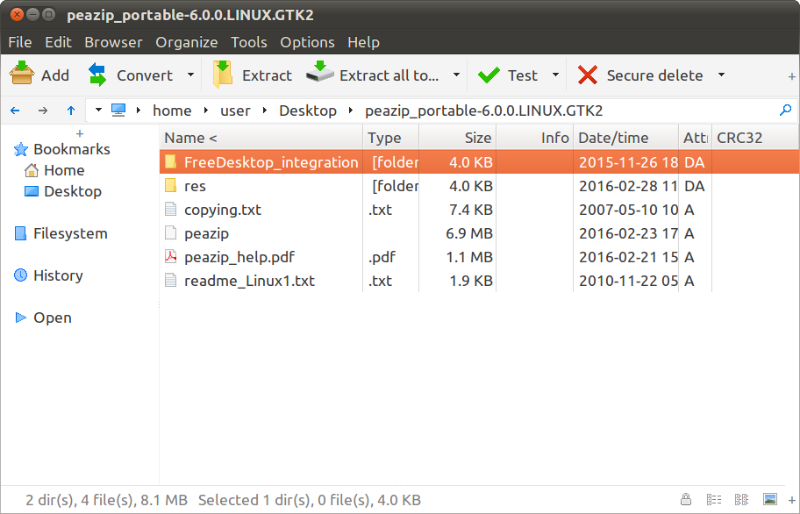 Install PeaZip File Compressor & Archiver On Ubuntu Linux