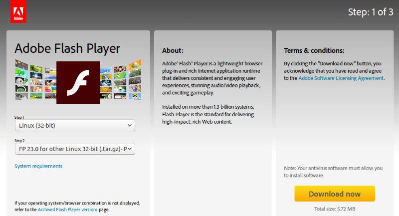 Install Adobe Flash Player for Chromium on Ubuntu 16 10