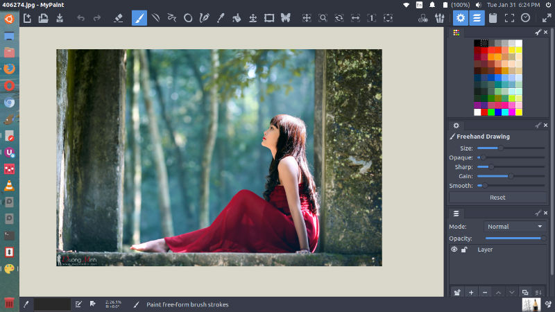 An image of MyPaint, an alternative to PhotoScape.