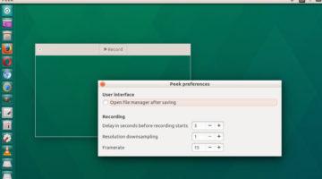 Install Peek GIF Screen Recorder On Ubuntu