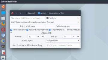Green Recorder For Ubuntu –  Desktop Recorder For Linux