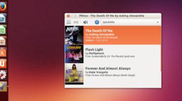 Install Pandora Radio Client Pithos In Ubuntu