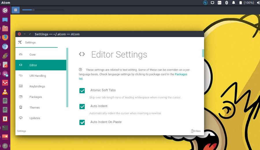 Install Atom Text Editor 1 38 1 on Ubuntu Linux