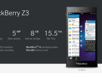 "BlackBerry Z3: A Stylish, 5"" All-Touch BlackBerry 10 Smartphone"