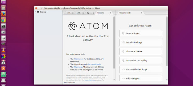 Install Atom 1.4.3 Text Editor On Linux Ubuntu Systems